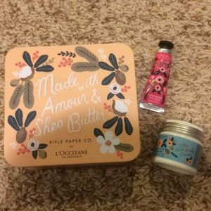 Rifle Paper Co L'occitane Body & Hand Cream Set